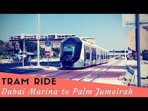 Tram ride from Dubai Marina to Palm Jumeirah