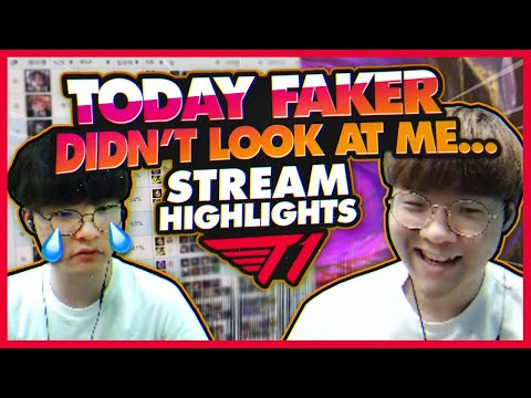 Faker Didn't Look At Me! | T1 League Of Legends Livestream Fails