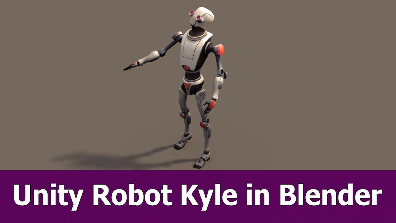 Import Unity FBX into Blender : Kyle the Robot