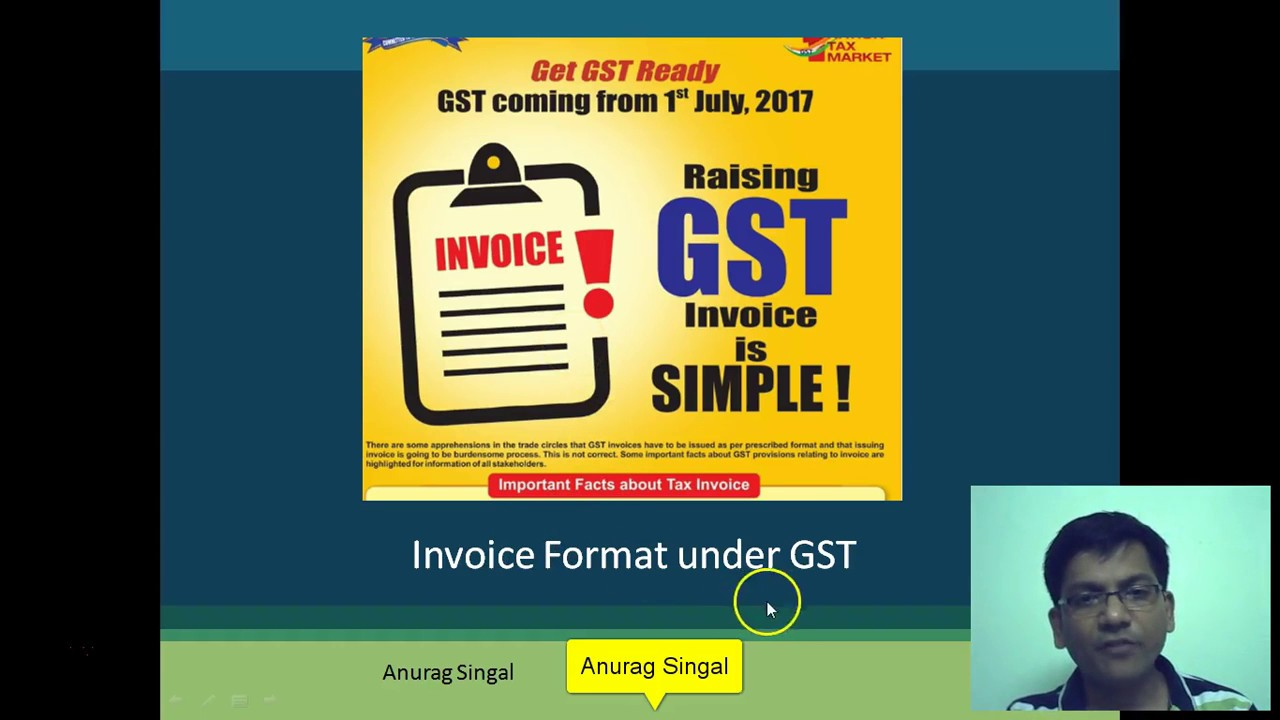Sale Bill In Gst Gst Invoice Format In India Gst Bill Explained