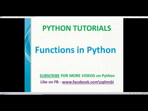 Python Tutorials | Functions in Python | python create function examples thumbnail