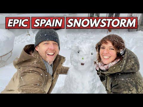 EPIC Snow Storm in Madrid