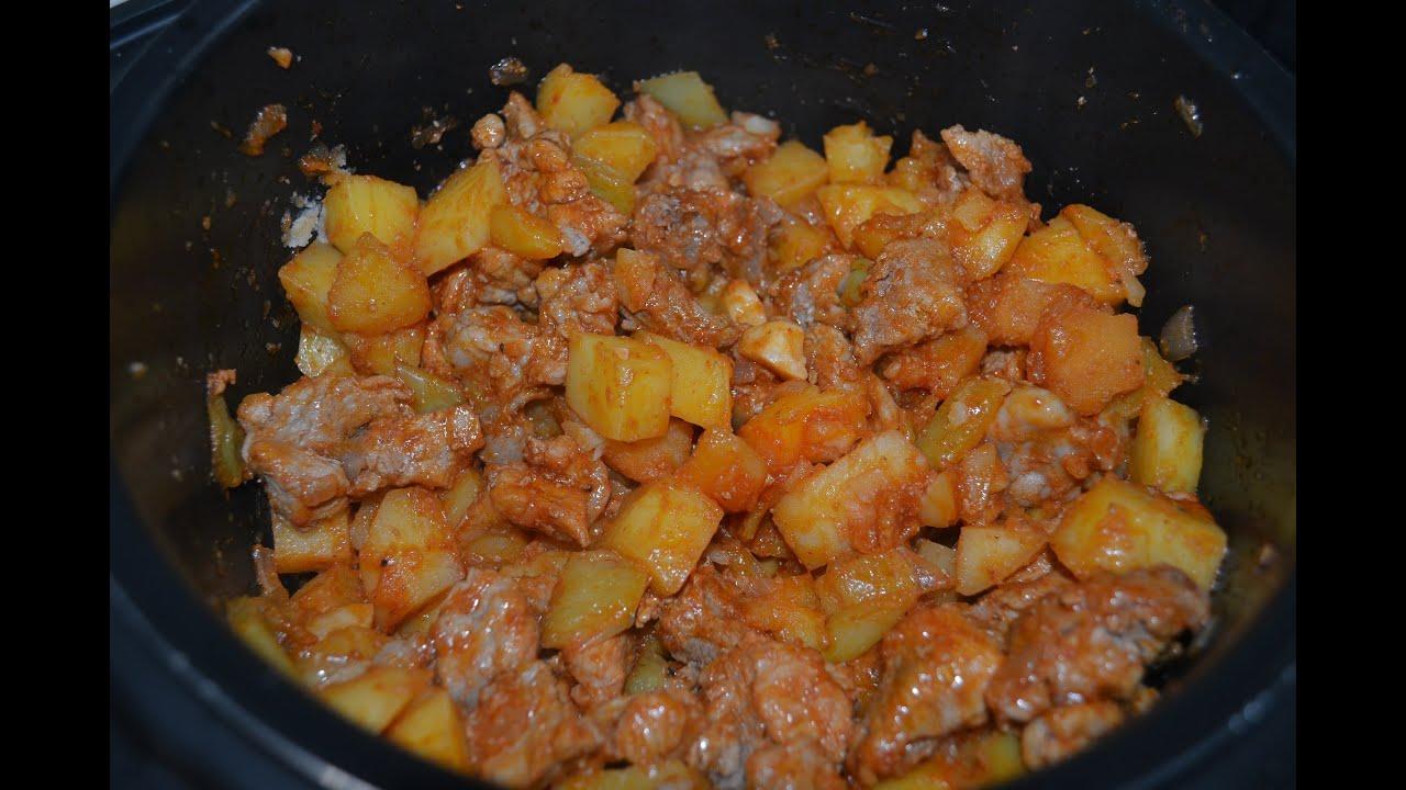 Видео-рецепт - Жаркое со свининой в мультиварке - Готовим вкусно, просто и быстро|быстро и вкусно приготовить мясо свинины