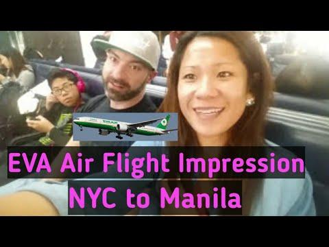 EVA Air, Flight Impression JFK to Mnl New York to Manila | Hello Philippines Vlog