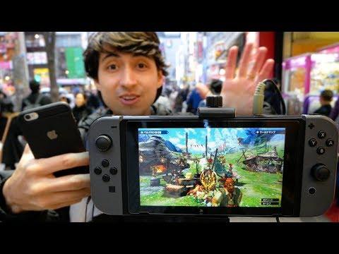 Monster Hunter Generations Ultimate Switch na rua do Japão - Modo portátil
