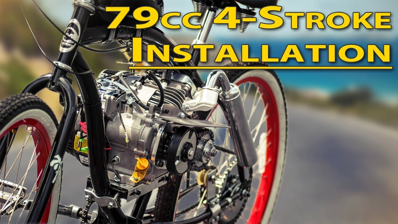 how to installation guide 79cc 4 stroke bicycle engine kit [ 1280 x 720 Pixel ]