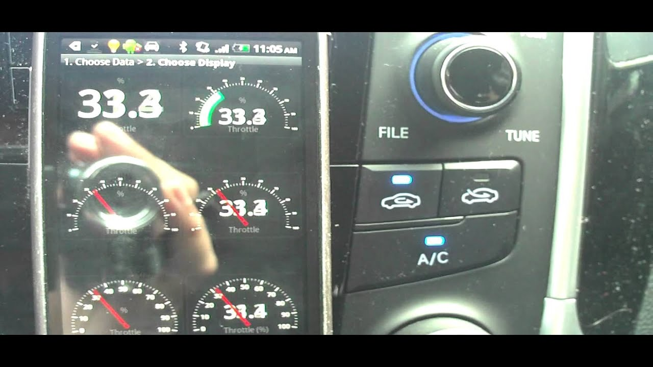 Android Hyundai Sonata Obdii Logger Test 1 Obd Gauge Configuration Youtube