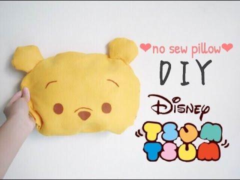 ♕Disney tsum tsum series : DIY Winnie the pooh no sew pillow♕ & ♕Disney tsum tsum series : DIY Winnie the pooh no sew pillow ... pillowsntoast.com