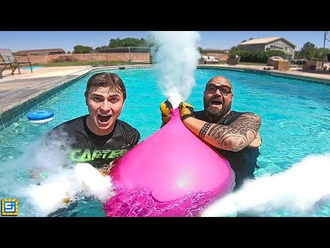 GIANT DRY ICE BALLOONS UNDERWATER! What Happens?!