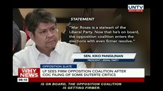 Liberal Party sees alliance after COC filing in COMELEC