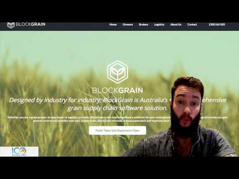 Blockgrain: blockchain solving real world problems in agriculture - ICO Review #65