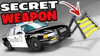 THE POLICE SECRET WEAPON! WHEEL GRABBER TAKEDOWNS! - BeamNG Drive Wheel Grabber Mod