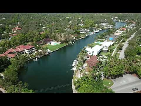 The Coral Gables Waterway in Miami.