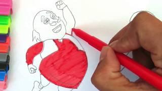 Motu Patlu King of Kings Movie Coloring Pages | Motu Patlu coloring page #2