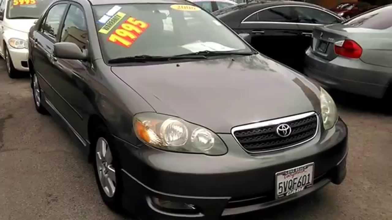 2006 Toyota Corolla S Type Youtube