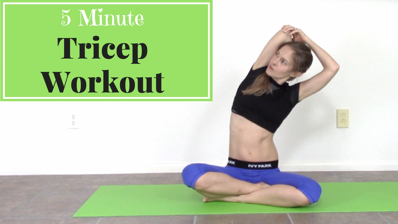 5 Minute Tricep Workout Tricep Exercises At Home