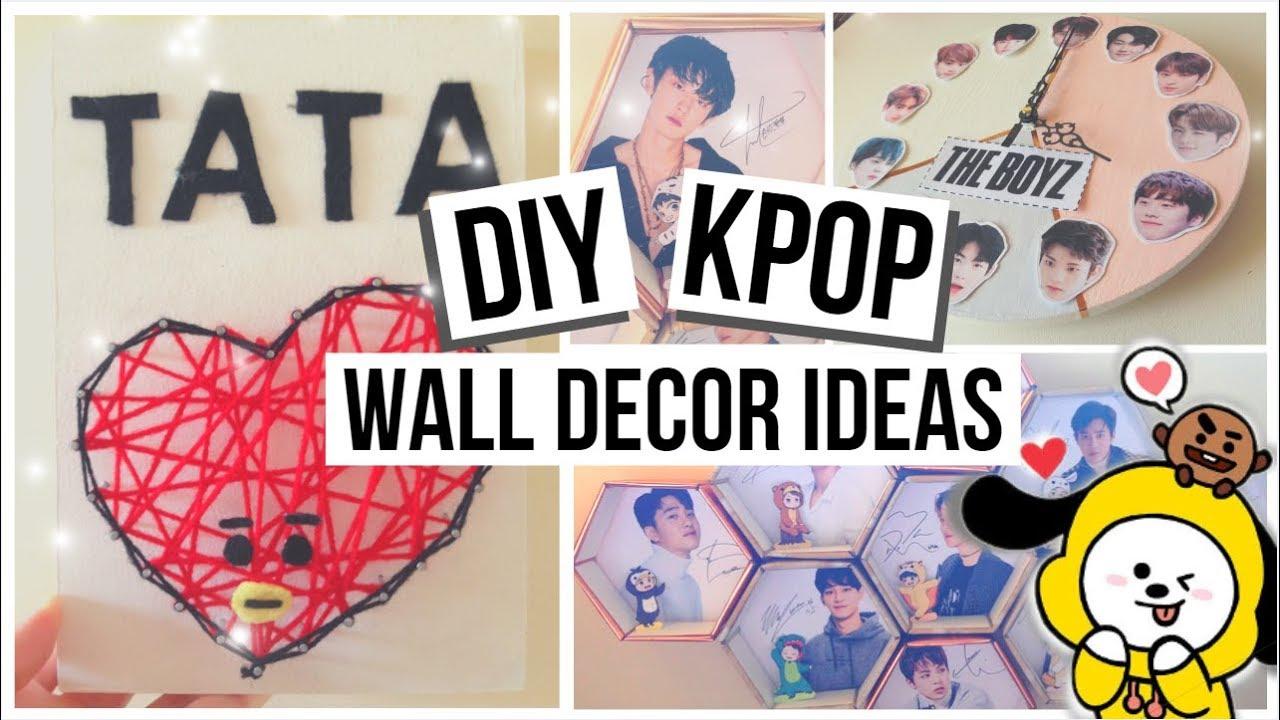 2019 KPOP Wall Decor Ideas (BTS, EXO, The BOYZ) - YouTube on Room Decor Bts id=87230