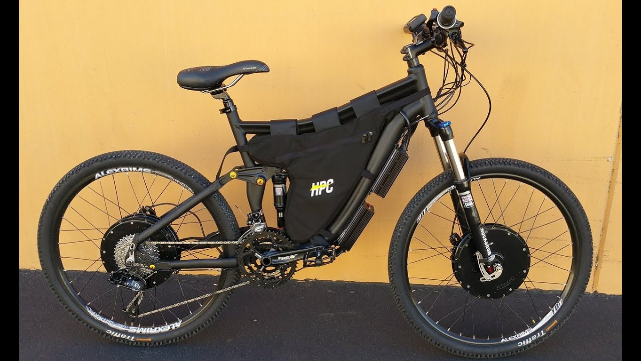 Hpc 7000w 2 Wheel Drive Xc 2 Electric Bike Youtube
