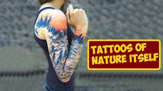 Amazing Tattoos Of Nature Itself With All Of Its Colors