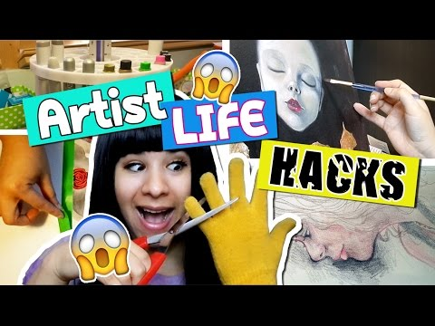 ❤ 12 Artist LIFE HACKS You Need to Try!! ❤ Painting, Drawing, Eye Fatigue Cure & MORE!!