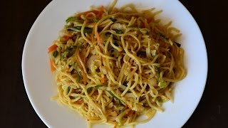 ★ Vegetable Hakka Noodles | Chinese Recipes | Fast Food Restaurant Style by Guru's Cooking