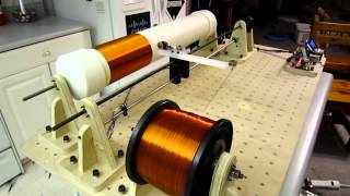 Tesla Coil Winder - Project Icarus: Coil Winding Time lapse