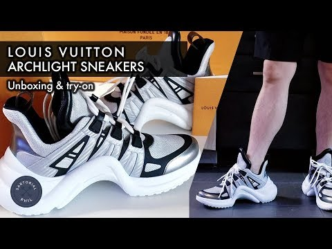 a4516025f71c Louis Vuitton Archlight (Silver SS18) sneakers unboxing and men s try-on