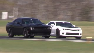 Hellcats vs Supercharged Corvette, Audi R8, & MORE in the Half Mile