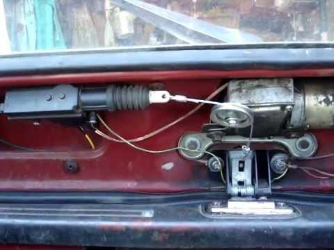 Комплект для реализация механизма блокировки замка багажника на автомобиле лада калина с кнопкой замка багажника старого образца ( машины до 2010 г. В. , кат. Номер: 11190-6305070-00).
