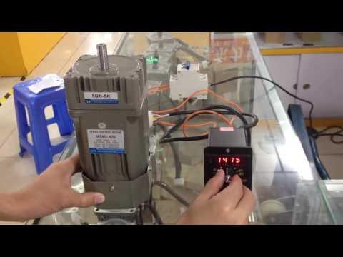 AC230V Motor Regler elektrische Drehzahlregelung Digitale Anzeige Gouverneur 6W-200W