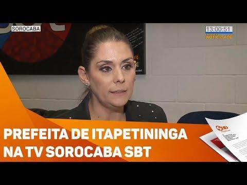Prefeita de Itapetininga na TV Sorocaba SBT - TV SOROCABA/SBT