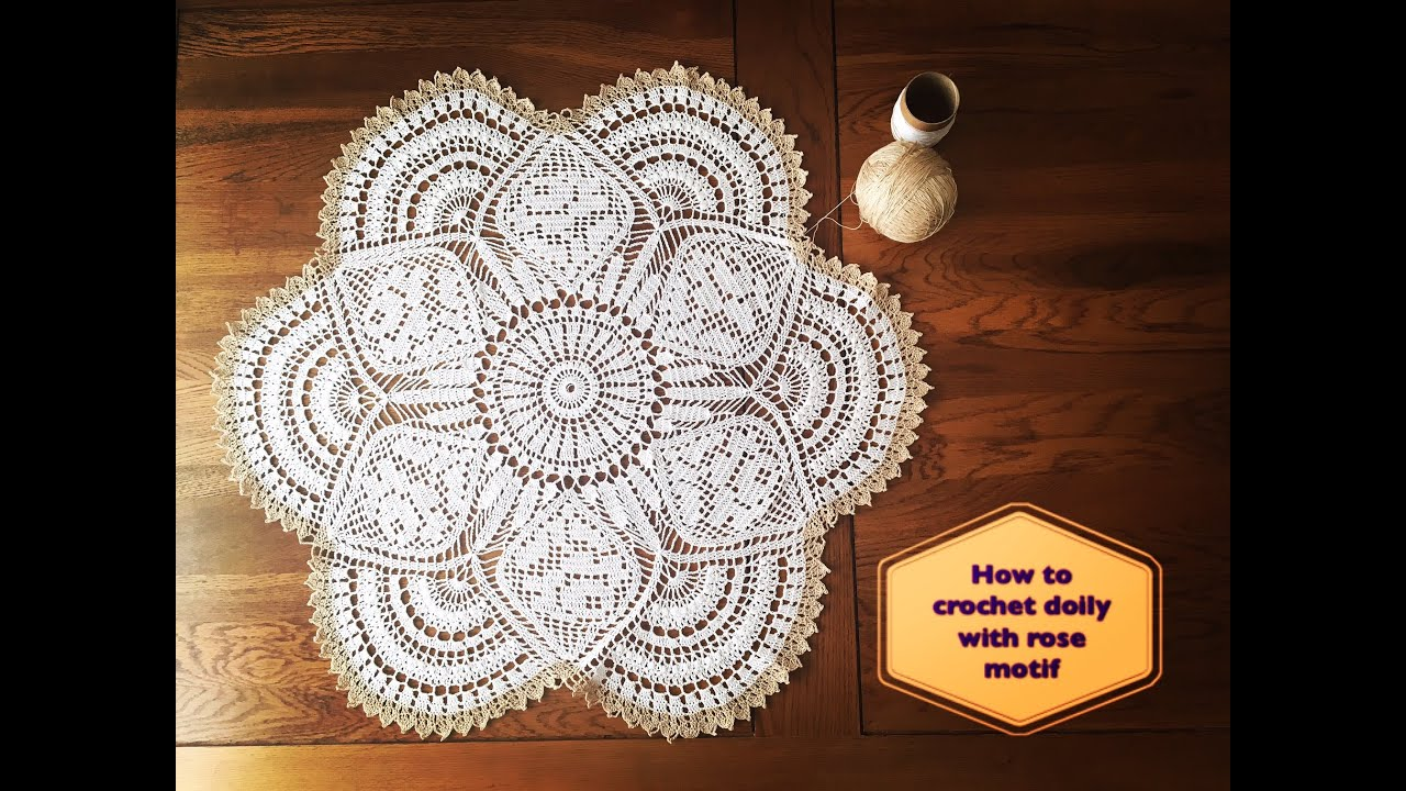 How to crochet doily with rose motif part 1 of 4 youtube how to crochet doily with rose motif part 1 of 4 bankloansurffo Gallery