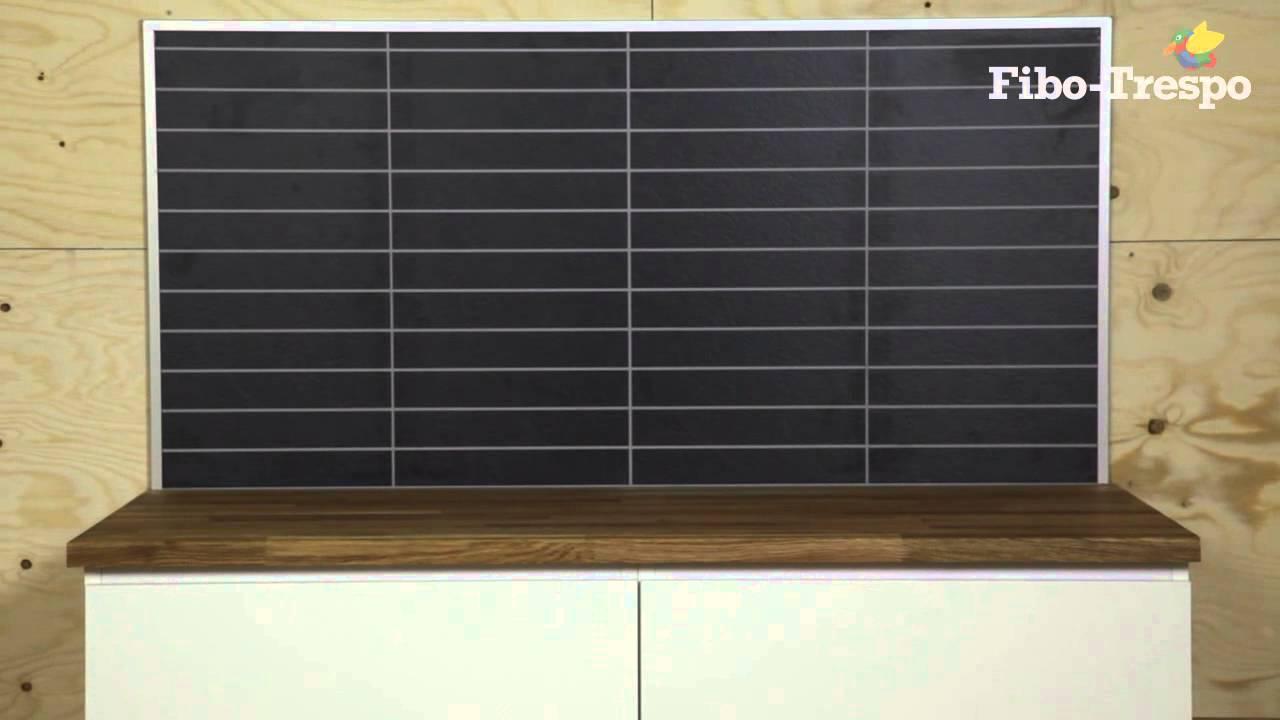 Fibo trespo kitchen board youtube for To do board for kitchen