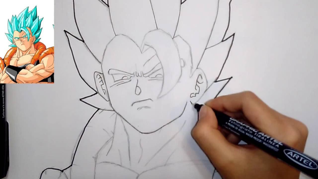 Speed Drawing Gogeta Ssj God Blue (Dibujo Rapido De Gogeta
