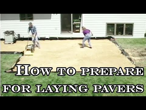 How To Prepare For Laying Pavers Youtube