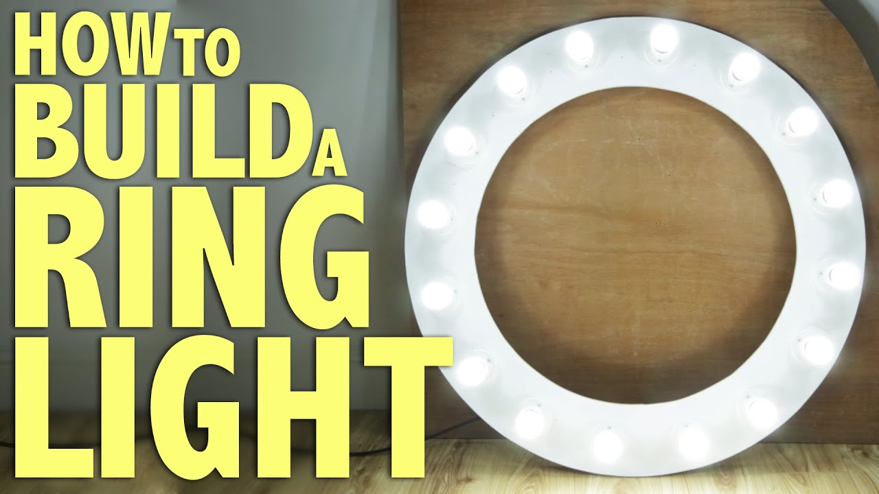 How To Build A Ring Light Diy Photography Tutorial Youtube