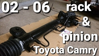 02 06 toyota camry rack and pinion