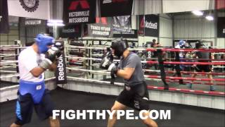MIKEY GARCIA SPARRING FOOTAGE; PUTTING IN WORK AHEAD OF NEXT FIGHT