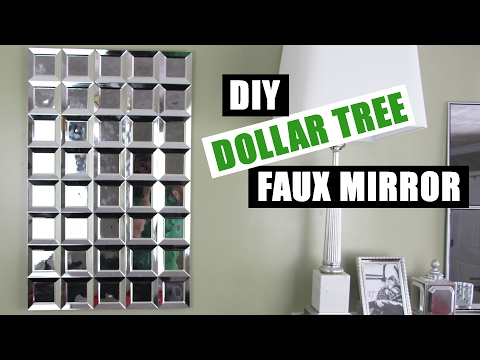 DIY DOLLAR TREE GLAM FAUX MIRROR WALL ART | Easy Z Gallerie Inspired Mirror Art | Cheap Mirror Decor