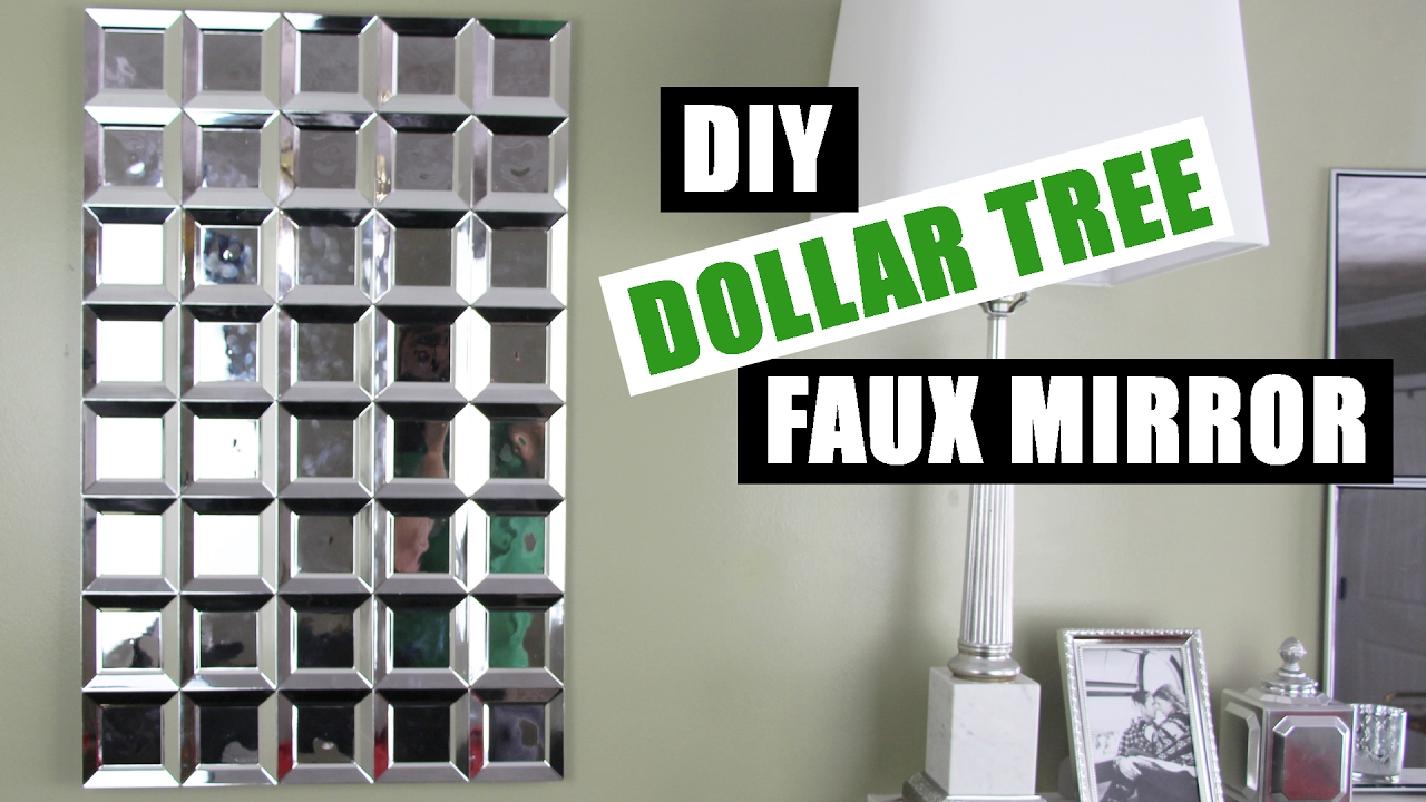 Diy Dollar Tree Glam Faux Mirror Wall Art Easy Z