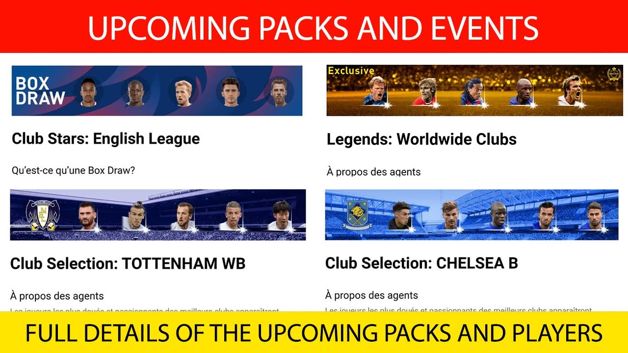 UPCOMING PACKS AND EVENTS ON MONDAY | PES 2021 MOBILE