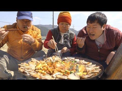 간만에 삼겹살!! [[옛날식 냉동 삼겹살(Samgyeopsal)]]~요리&먹방!! - Mukbang eating show