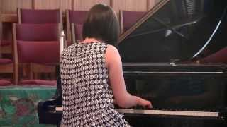 Flora playing Chopin Nocturne Op. 32, No. 1 in B major at Santa Barbara
