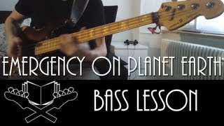 Emergency on Planet Earth - Jamiroquai [Bass Lesson]