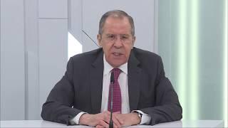 С.Лавров к открытию выставки «Сталин, Черчилль, Рузвельт:», Москва, 27 апреля 2020 года