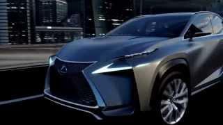 видео Мировая премьера концепта кроссовера Lexus LF-NX
