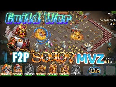 F2P Scorch Ronin SOLO MVZ BASE? Guild War - Castle Clash