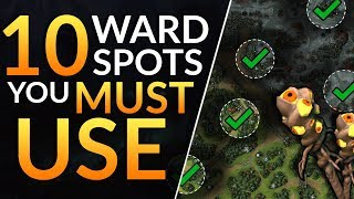 Top 10 BEST WARD SPOTS you MUST ABUSE - Pro Tips to CARRY with Warding | Dota 2 Guide (Immortal)