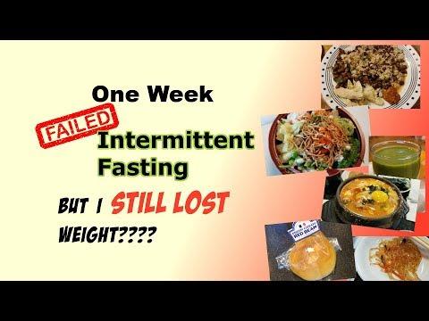 One Week Intermittent Fasting   Efforless Weightloss Plan Results    PalsLivesLife