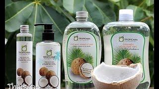 100% натуральное кокосовое масло Tropicana.(Вы можете заказать этот или любой другой товар для здоровья и красоты из Таиланда, перейдя по ссылке интерн..., 2015-08-12T09:47:13.000Z)